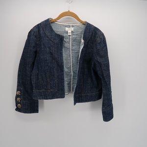 Ann Taylor LOFT Open Front Long Slv Denim Sweater